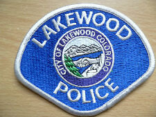 Patches: CITY OF LAKEWOOD COLORADO POLICE PATCH (New, Approx. 3.8x4 inch)