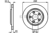 BOSCH Juego de 2 discos freno 288mm ventilado JAGUAR S-TYPE XJ 0 986 478 777