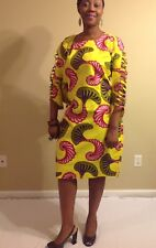 African woman dress long sleeves size M,L