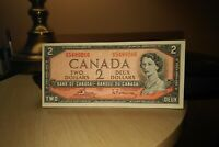 1954 $2 Dollar Bank of Canada Banknote HG5489266 Crisp