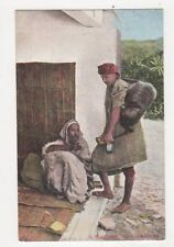 A Water Seller Tangier North Africa Vintage Postcard 420a
