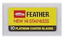 Feather New Hi-Stainless platinium boîte de 10 lames pour rasoir Double Edge