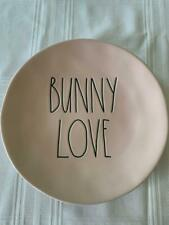 "RAE DUNN  - PINK - ""BUNNY LOVE""  PLATE - 11"" DIAMETER - LTD EDITION - NEW"