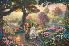 Gone With The Wind Art Canvas HD Print Wall Decor Thomas Kinkade Poster 31x46 CN