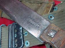 ORIGINAL WWII 1945 US TRUE TEMPER MACHETE (w. scabbard & belt)