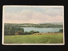 1914 Laurel Lake, Lenox, MA postcard