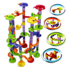 58Pcs DIY Building Blocks Track Run Race Tower Marble Ball Construction Toys USS