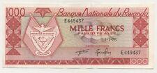Rwanda 1000 Francs 1-1-1976 Pick 10.c aUNC Almost Uncirculated Banknote