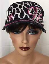 Brand New CROSS Cap hat Cowgirl Western Gypsy Southwest Cross With Rhinestones