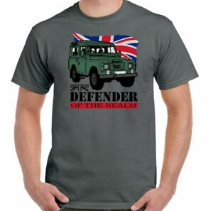 Defender T-Shirt Mens Funny 90 110 127 4X4  SVX Of the Realm Land Rover