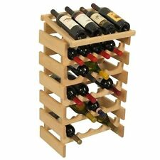Wooden Mallet 20 Bottle Dakota Wine Rack with Display Top Unfinished NEW
