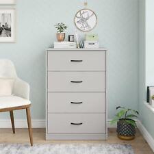 Mainstays Classic 4 Drawer Dresser, Dove Gray