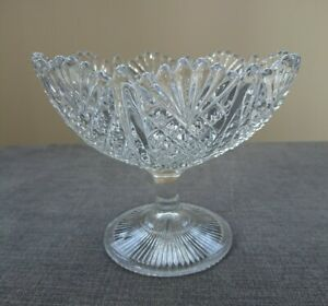 George Davidson Late Victorian Glass Compote Dish, RD 320124, Superb item.