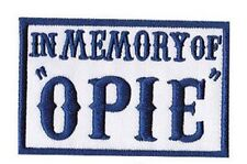 In Memory of OPIE Outlaw EMBROIDERED 3.5 inch BIKER PATCH (NVY BLUE)