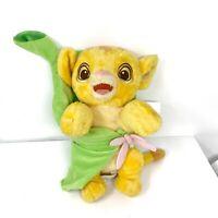 "Disney Parks Babies The Lion King Simba Plush Lion in Leaf Stuffed Animal 10"""