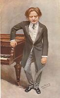 1908 Originale Vanity Fair Stampa ~ Segno Hambourg Impromptu ~ Spy