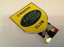 LAND ROVER OWNER CLUB CAR BADGE SERIES 1 2 3 ORGINAL NOT CHINESE CRAP YELLOW