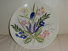 VINTAGE RED WING POTTERY FLORAL HAND PAINTED PLATE - 10 5/8""
