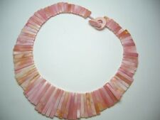 Hawaiian Hawaii Jewelry Natural Pink Conch Shell Sun Shaped Necklace # 20438-2