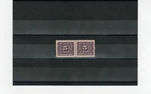 Wow, nice VF Mint Never Hinged Pair #J4 Cat $160 Canada postage due