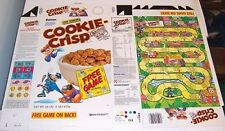 1991 Free Game on Box Ralston Cookie Crisp Cereal Box unused factory Flat cf30
