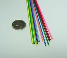 "25 pieces 72"" Length 1/16"" Assortment Colored Acrylic Rod"