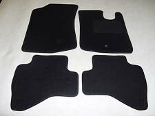 Peugeot 107 2005-on Tailored Fit Car Mats in Black. 2 x fixing