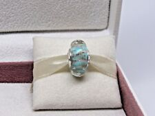 New w/Box & Tag Pandora Mint Glitter  Murano Glass Charm 791669 BEWARE FAKES