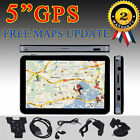 "5"" Inch 8GB GPS Car NAV Navigation Free EU/US/AU Map Update Sunshade durable OU"