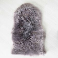 Plain Soft Fluffy Bedroom Faux Fur Fake Sheepskin Rugs Washable Hairy Mat Beige