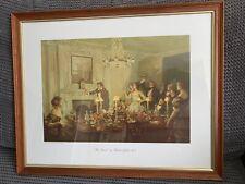FRAMED WD & HO WILLS - FINE ART PRINT - 'THE TOAST' by RICHARD JACK (R.A.)