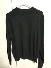 Vintage Florence Tricot Italy Pullover Sweater Acrylic Wool Gray Mens Size Large