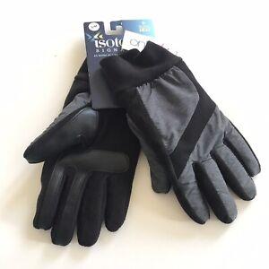 Isotoner Signature Men's Gray Nylon Sleekheat smarTouch® Gloves Size S/ M