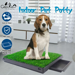 Dog Pet Potty Portable Toilet Training Grass Mat Puppy Loo Pad Indoor with Tray