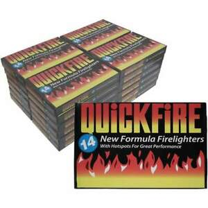 Quickfire Firelighters - 24 Boxes of 14 firelighters. Free Delivery.