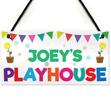 Personalised Child's Playhouse Name Sign Hanging Plaque Son Daughter Gift