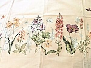 """Vintage Waverly """"Glorious Garden"""" Large Fabric Swatch T11"""