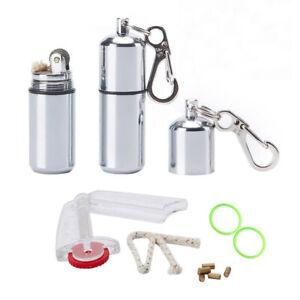 2 Pcs EDC Peanut Waterproof Keychain Lighter for Fire Starter Emergency Survival