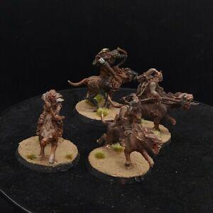 Well painted Warhammer LOTR orc warg riders ×4 (METAL) OOP lot #1 games workshop