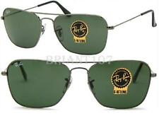New Unisex Sunglasses Ray-Ban RB3136  004 Caravan Gun metal/Green 58mm