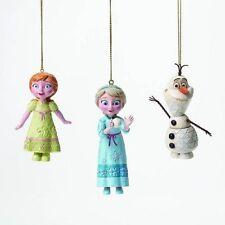 Disney Jim Shore Frozen Ornament Set Elsa, Anna & Olaf #4046062