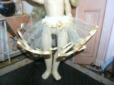 "Ivory Nylon Net Slip Petticoat Crinoline 14"" Doll clothes fits Ideal Toni P-90"