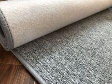 Läufer grau Teppich Korridor Flur Diele Breite 50, 60, 70, 80, 90 100 cm