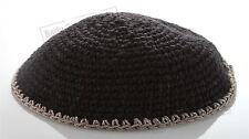Knitted Black Kippah Yarmulke Tribal Jewish Yamaka Kippa Israel Hat Covering Cap
