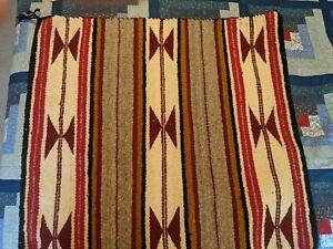 "Vintage Navajo Saddle Blanket 29 1/2 "" X 31 """
