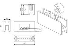 10 RUEDAS DE VENTANAS CORREDERAS BK repuestos para aluminio rodamientos climalit