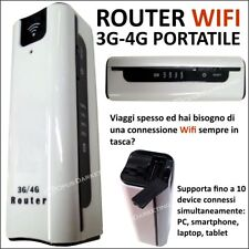 MODEM ROUTER WIFI PORTATILE 3G 4G PER CONNESSIONE INTERNET IN VACANZA DA VIAGGIO