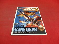 Aerial Assault Sega Game Gear Vidpro Promo Display Card ONLY