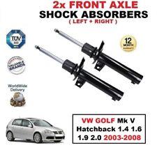 2x ant. AMMORTIZZATORI per VW GOLF MK V Hatchback 1.4 1.6 1.9 2.0 2003-2008