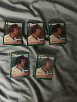 FIVE 1986 Donruss Will Clark Rookie Cards #32